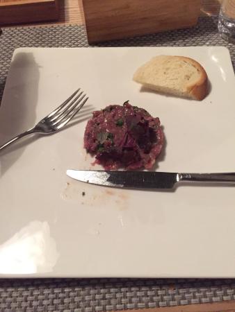 Restaurant Hotel Moosegg: Hirschtartar,ohne beilagen bestellt