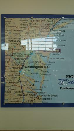 Delaware Welcome Center Travel Plaza: Location Map