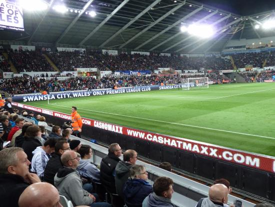 South Wales, UK: Inside Liberty Stadium