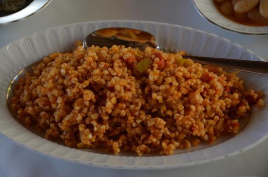 Aravan Evi Restaurant: bulgar rice