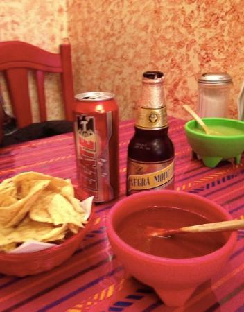 El Trompo Taco Bar & Cactus Grill: El Trompo Chips and Salsa and Beer - YAY