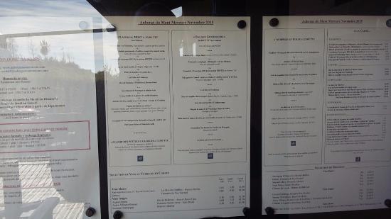 menus photo de auberge du mont mercure michel mont mercure tripadvisor