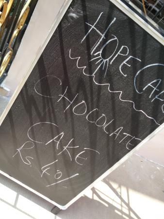 Hope Café: Menu board