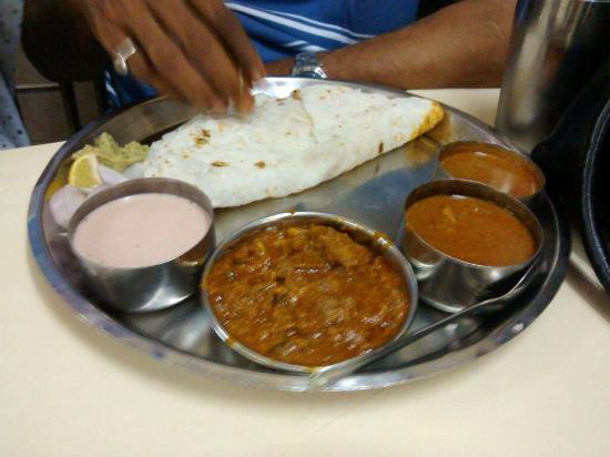 Mutton Thali with Bhakri - Picture of Satkar Rice Plate ...