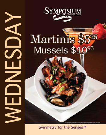 Wednesday Mussels And Martini Specials Picture Of