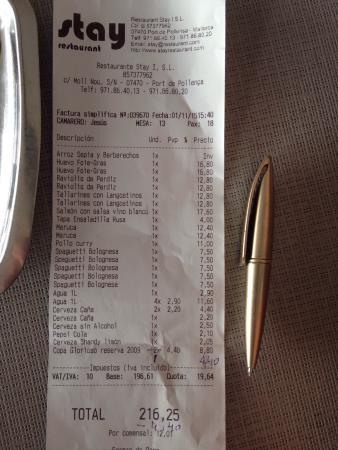 Stay Restaurant: Muy Caro calidad precio.  Para colmo el aceite caducado.
