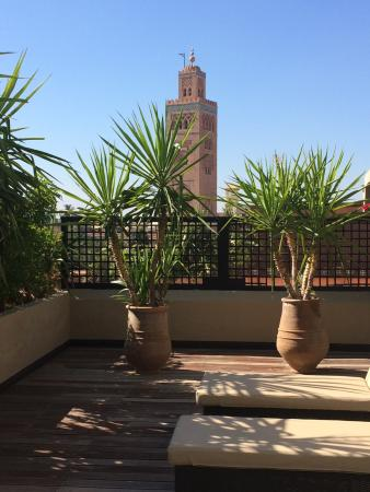 balcony picture of les jardins de la koutoubia. Black Bedroom Furniture Sets. Home Design Ideas