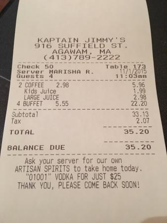 Kaptain Jimmy's Restaurant and Distillery: The PRICE, The VALUE, The PRICE!!
