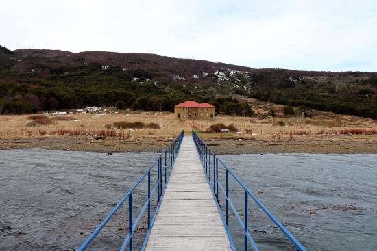 Isla Navarino, Chile: Bahia Wulaia, view from the dock of the museum