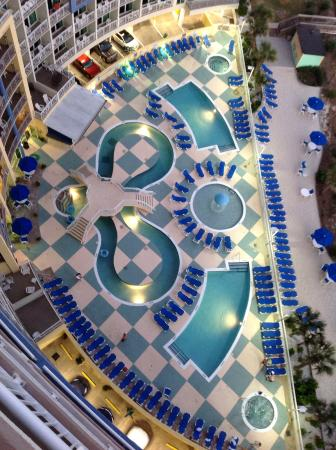 Avista Resort View Of The Pool From 16th Floor