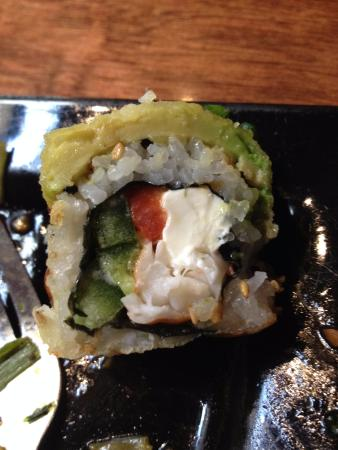 Karma Sushi Bar Grill: Flying Dragon - Nice crunch on the outside and not too much rice.