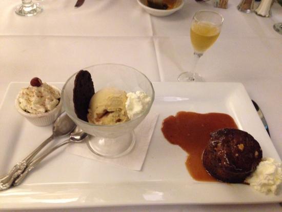 Telegraph House: Trio of desserts