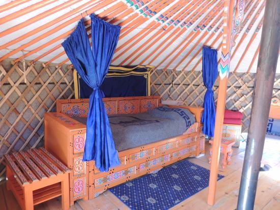 Jalman Meadows Wilderness Camp: Insidan av Ger(jurta)