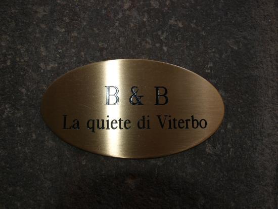 B&B La Quiete Di Viterbo: logo