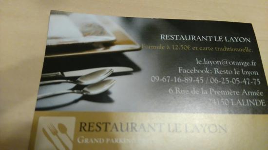 Carte De Visite Le Layon