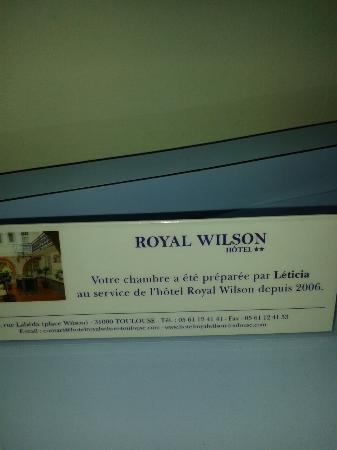 Royal Wilson: une petite intention. .