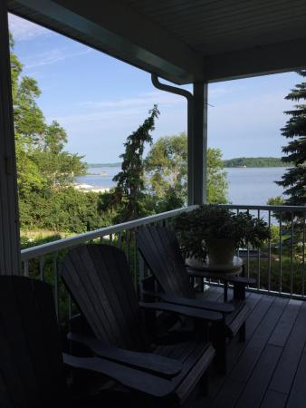 Gores Landing, Canada : View of the lake from the verandah