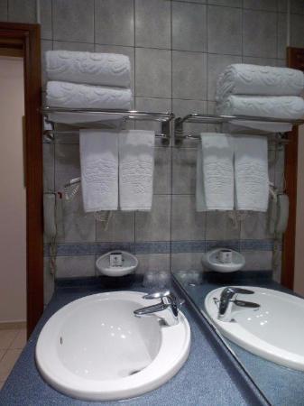 Royal Regency Hotel Apartments : bathroom sink