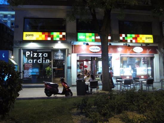 pizza jardin madrid goya 5 barrio de salamanca