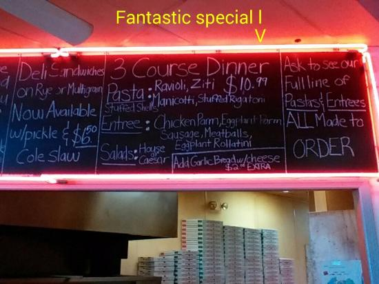 Theres The Dinner Special Picture Of Federicos Pizza