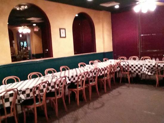 Ninette S Italian Restaurant Set Up For Large Party In Separate Room
