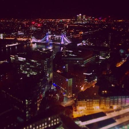 View From Aqua Shard At Night