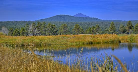 Sunriver Resort: Mt. Bachelor in the background
