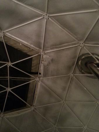 Dome Garden: The inside is looking a bit tired (gaffer tap, grime and missing bars/bolts)
