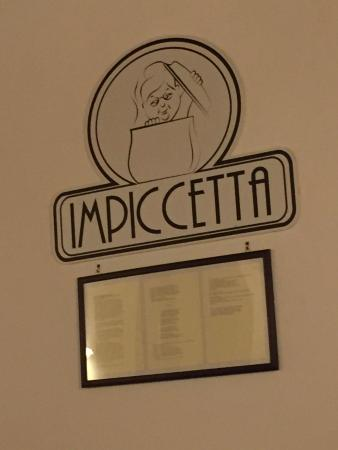 The sign on the wall inside