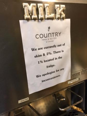 Country Inn & Suites By Carlson, Green Bay East: Out again???