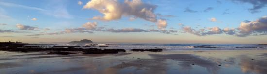 Beautiful evening at Milsey Bay, just a few metres from front door