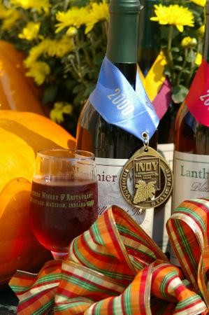 Madison, IN: Award winning wines and fall color