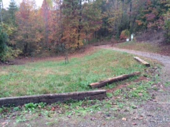 Tanglewood Cabins: Parking area