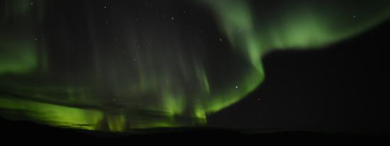 Hotel Laugarholl: Aurora Borealis view
