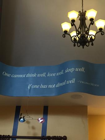 Egg Harbor, WI: Cool quotes and decor