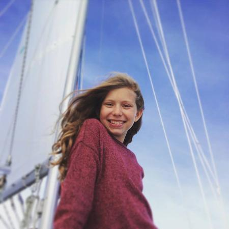 Sail Casco - Tours: My daughter having a wonderful time.