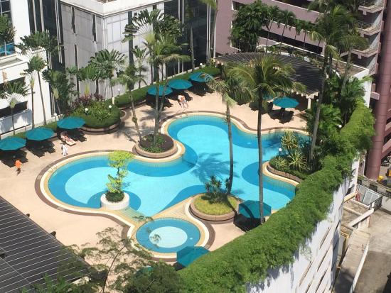 From my room view outdoor swimming pool picture of - Best hotel swimming pool in kuala lumpur ...