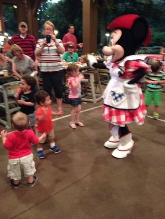 dancing with minnie picture of mickey 39 s backyard bbq