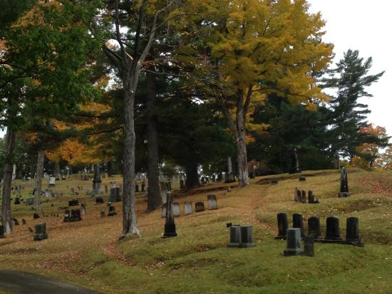 Mount Hope Garden Cemetery: Spooky tombstones amidst the fall foliage