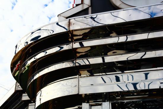 Majestic Diner: classic diner facade