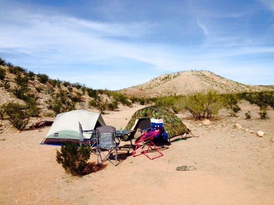 Rio Grande: Campsite close to the Rio