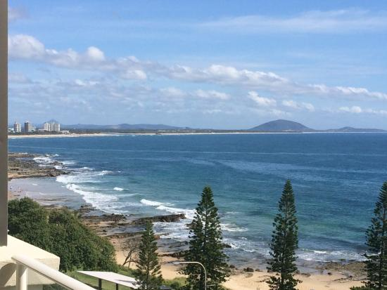 Pacific Beach Resort: Looking North to Mt Coolum
