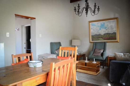 Spekboom Cottages: Open plan dining and lounge
