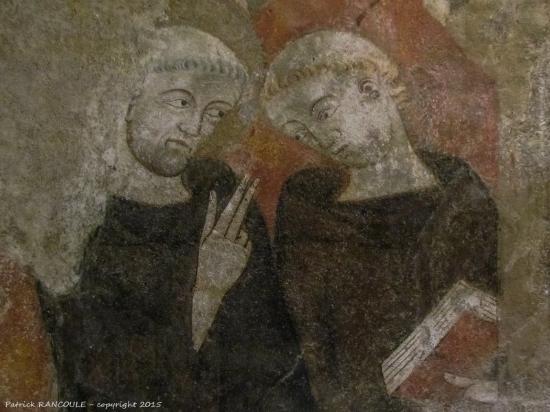 Alet les Bains, Frankrijk: fresques du XIVe dans l'église
