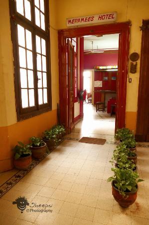 Entrance of Meramees hostel - welcome
