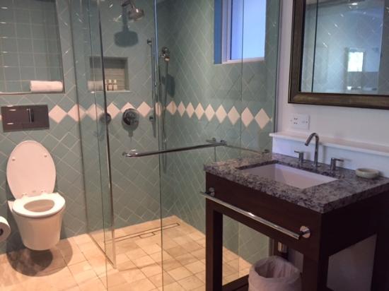 Cap Estate, St. Lucia: Shower facilities in new garden rooms