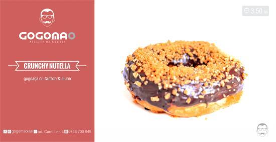 Crunchy Nutella Donut Picture Of Gogomao Iasi Tripadvisor