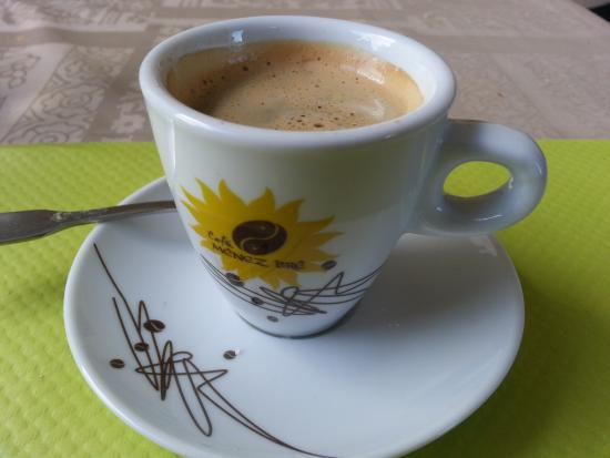 Plouaret, Frankrike: Espresso, included in the price of the meal