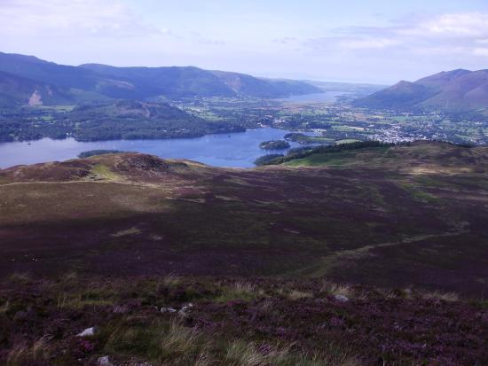 Lake District National Park Guided Walks - Walks to Inspire: Lake District National Park - panoramic view towards Derwent Water and Bassenthwaite Lake