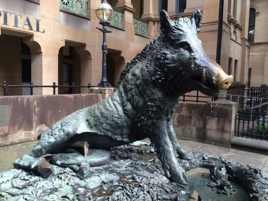 Wild Boar Fountain of Good Luck